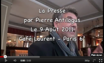 Vidéo Antilogus Presse
