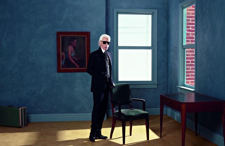 Karl Lagerfeld Autoportrait 2013 Impression jet d'encre noir et blanc sur papier Fabriano 50 x 70 cm © 2013 Karl Lagerfeld
