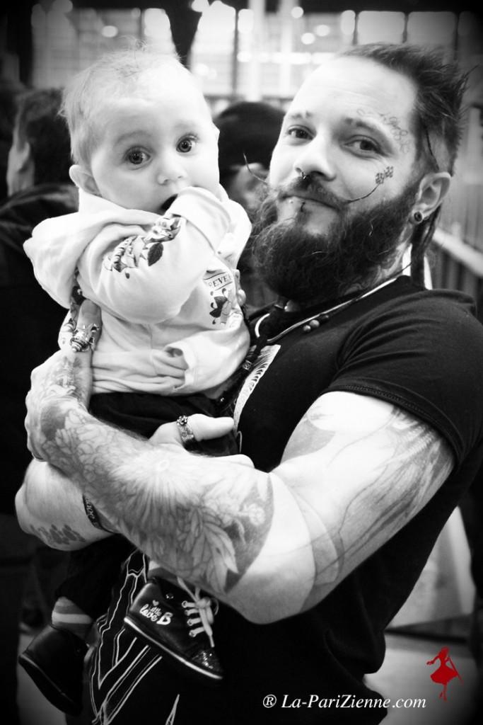 Virgile et sa fille Myla