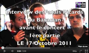 Vidéoblog des Fatals Picards au Bataclan