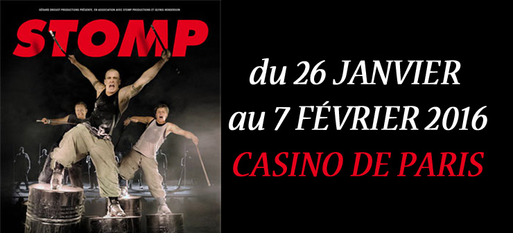 STOMP CASINO DE PARIS FNAC